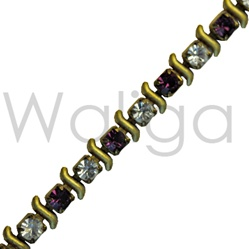 Wholesale Swarovski Fancy Rhinestone Chain - Montana & Crystal Amethyst Fancy