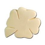 Genuine Bone 4 Leaf Clover Charm