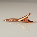 Alligator Hair Clip, Copper Coated Hair Clip
