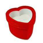 Ring,Earring, pendant Box -  Heart