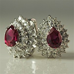 Sterling Silver Rhinestone Earrings
