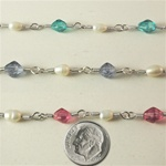 Freshwater Pearl & Glass Bead Chain