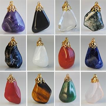 Wholesale genuine semi precious pendants beautiful assorted pendants genuine semi precious pendants beautiful assorted pendants average size is 1 rose quartz aloadofball Gallery