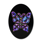 wholesale Vintage Black Glass Stone Dazzling butterfly embedded inside, 18x13mm.(12 pcs minimum)