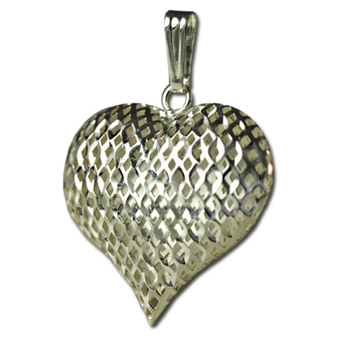 Sterling silver pink heart pendant sterling silver heart pendant aloadofball Images