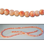 Wholesale Coral Beads Genuine 3mm coral beads, sold by the strand, (128 beads per strand).