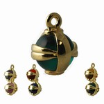 Gold Plated Pendant with Colorful Balls