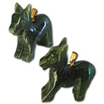 "Genuine Jade Donkey Pendant Carved genuine jade donkey pendant. 1"" x 1"". (1 dozen minimum)"