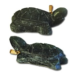 "Genuine Jade Turtle Pendant Carved genuine jade turtle pendant. 1 1/8"" x 1/2"". (1 dozen minimum)"