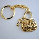Wholesale Gold Tone Purse Keychain