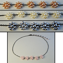 Wholesale Assorted Pearl Flower Necklaces