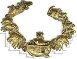 Noah's Ark Bracelet - replica of the ark and the animals - Just like the Movie!