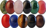 Wholesale Oval Semi Precious Stone Cabochon -25x18mm, available in Jade, Carnelian, Rose Quartz, Black Onyx, (Malachite +$2.00) (Salmon +$2.00) Red Agate, (Blue Lapis +$2.00) Tiger Eye, Blue Tiger Eye & Red Tiger Eye.