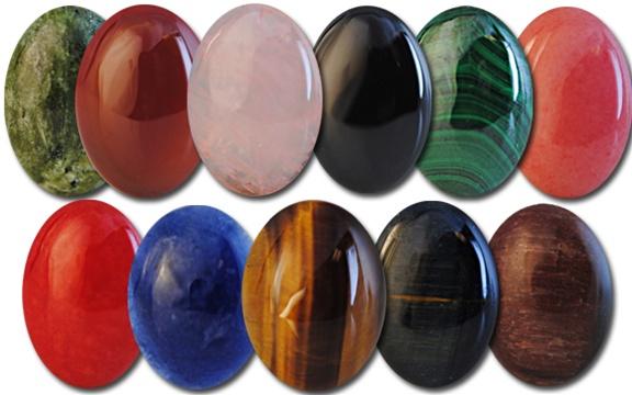 Wholesale Oval Semi Precious Stone Cabochon 25x18mm
