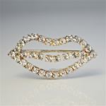 Wholesale Rhinestone Lips Pin
