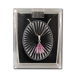 Lucite Pendant / Earring Box with a black insert