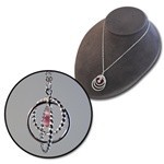 Wholesale Pink Eternity Circle Necklace