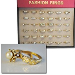 Ladies Fashion Rings in Display Case