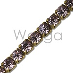 Rhinestone Chain Light Amethyst