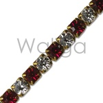 Rhinestone Chain Ruby Crystal