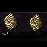 Fancy Gold Plated Clip Earrings