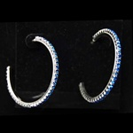 Lg Silver Plate Earrings