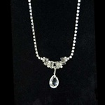 Austrian Crystal Chain,  Pear Drop Necklace. Fredrick's of Hollywood