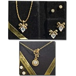 Wholesale Assorted CZ Pendant Necklaces & Earring sets