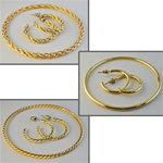 Three Bracelet & Earring Sets Elegant Bracelet and matching hoop earrings in 3 different styles, only $9.99!