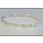 "Wholesale Cubic Zirconia Filled Bracelet Dazzling 4mm CZ stones in a gold filled  7"" bracelet."