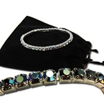 Starlight AB Swarovski Crystal Stretch Bracelet