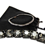 Swarovski Crystal Stretch Bracelet with Hematite