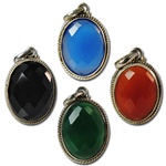Wholesale Sterling Silver Facetted Cabochon Pendants