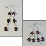 "Wholesale Sterling Silver Gemstone Earrings Beautiful 8mm gemstones set in sterling silver, amethyst, 1 1/2"" & 1"""