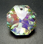 Genuine Swarovski Strass Octagon Pendant, top drilled, size 18mm, Crystal AB, discontinued