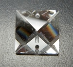 Genuine Swarovski Strass Square Pendant with 2 holes, size 14mm, clear Crystal, discontinued