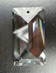 Genuine Swarovski Strass Rectangle Pendant with 1 hole (top drilled), size 40x22mm, clear Crystal, discontinued