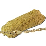 Necklaces G/P Rope Chain Necklaces</b><br>20'' 3mm goldtone necklaces