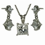 Cubic Zirconia Necklace Set