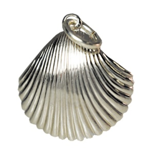 Sterling silver clam shell charm mozeypictures Image collections